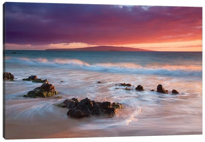 Soft Maui Sunset Canvas Art Print