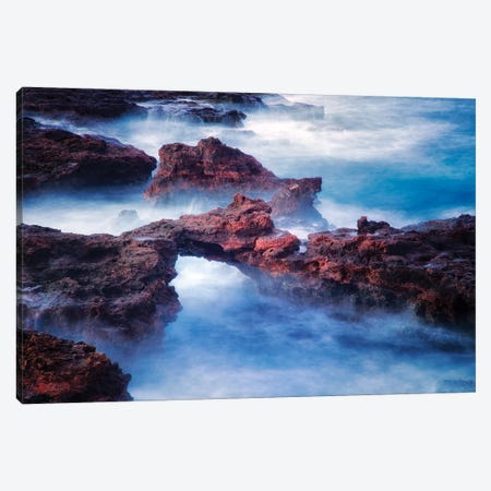Soft Sea Arch Canvas Print #DEN316} by Dennis Frates Art Print