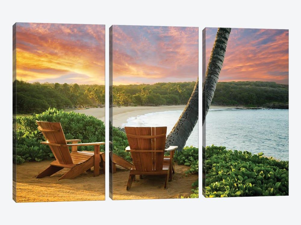 Sunrise View by Dennis Frates 3-piece Canvas Print