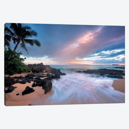 Sunset Beach Canvas Print #DEN335} by Dennis Frates Canvas Print