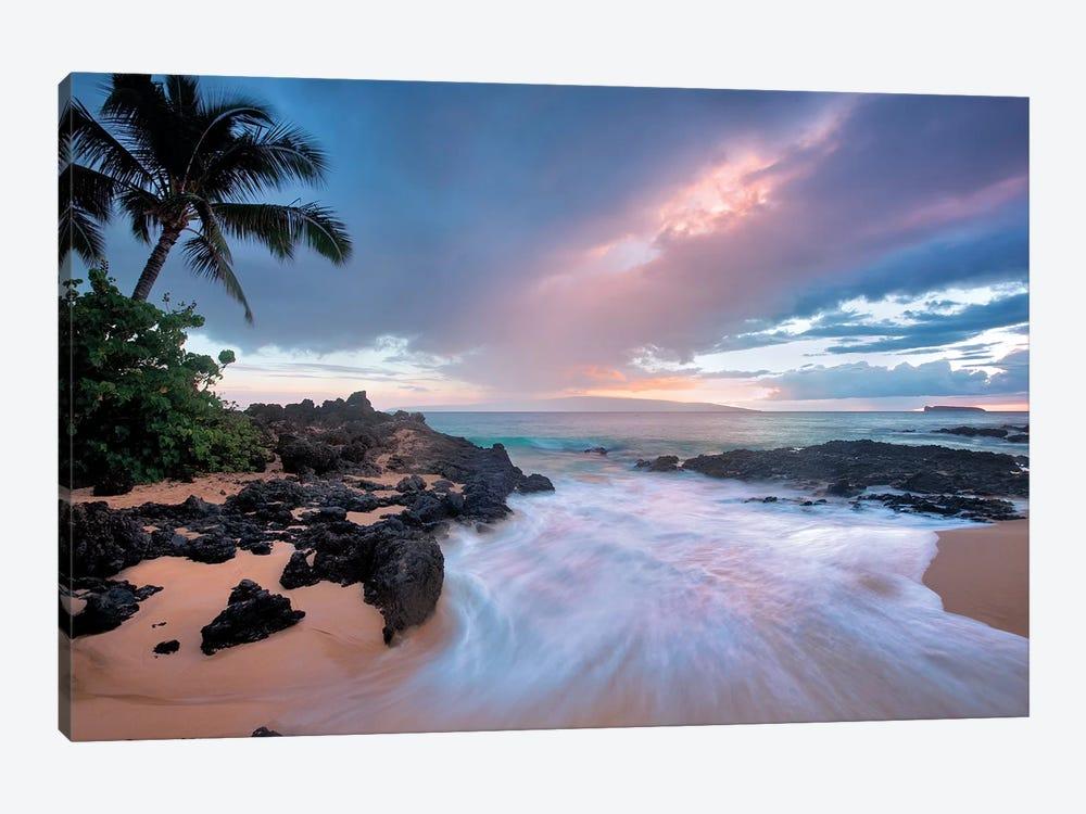 Sunset Beach by Dennis Frates 1-piece Canvas Artwork