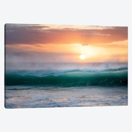 Sunset Wave Canvas Print #DEN343} by Dennis Frates Canvas Print