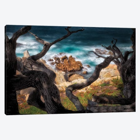 Surf Frame Canvas Print #DEN344} by Dennis Frates Canvas Artwork