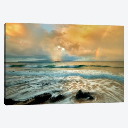 Surf Rainbow Canvas Print #DEN345} by Dennis Frates Canvas Art