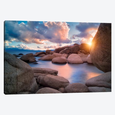 Tahoe Shore I Canvas Print #DEN350} by Dennis Frates Canvas Wall Art