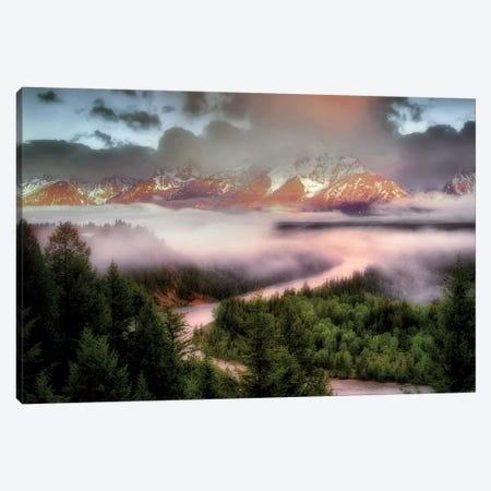 Teton Sunrise Canvas Print #DEN358} by Dennis Frates Canvas Wall Art