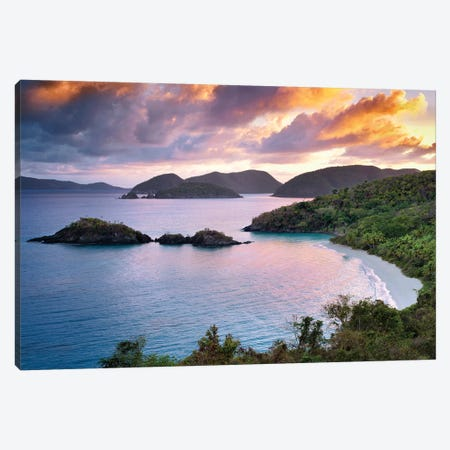 Trunk Bay Sunrise Canvas Print #DEN376} by Dennis Frates Canvas Art Print
