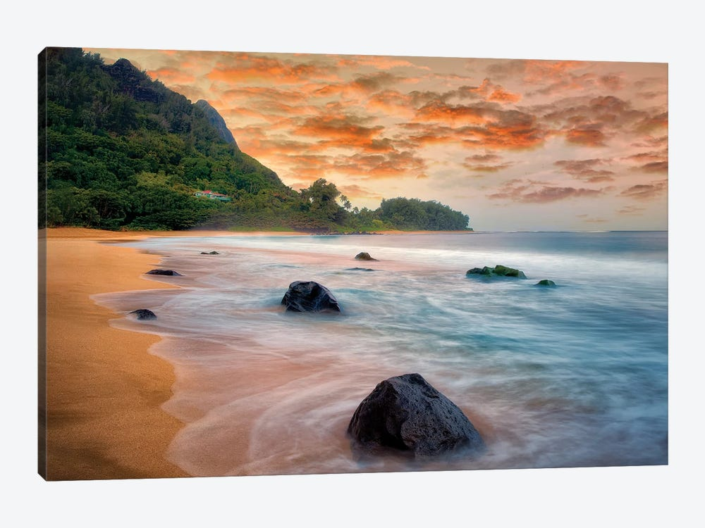 Tunnels Sunset by Dennis Frates 1-piece Canvas Artwork