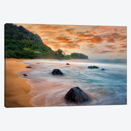 Tunnels Sunset Canvas Print #DEN377} by Dennis Frates Art Print