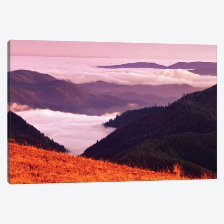 Valley Fog 3-Piece Canvas #DEN380} by Dennis Frates Canvas Print