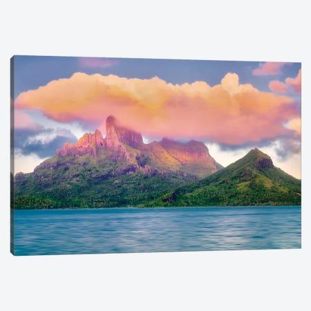 Bora Bora Sunset Canvas Print #DEN43} by Dennis Frates Canvas Print