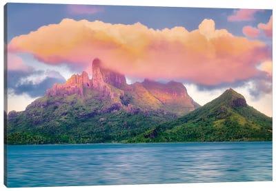 Bora Bora Sunset Canvas Art Print