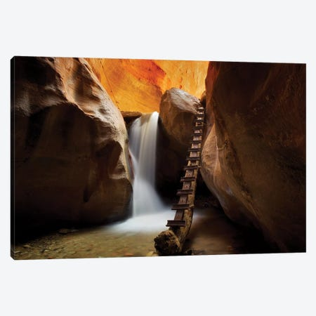 Canyon Stairs Canvas Print #DEN59} by Dennis Frates Canvas Wall Art