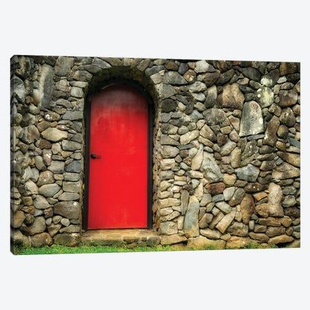 Red Door Canvas Print #DEN611} by Dennis Frates Art Print