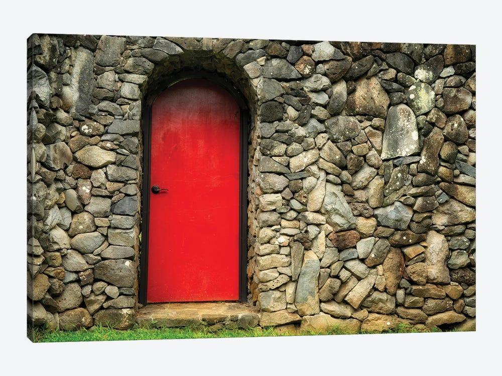 Red Door by Dennis Frates 1-piece Canvas Art