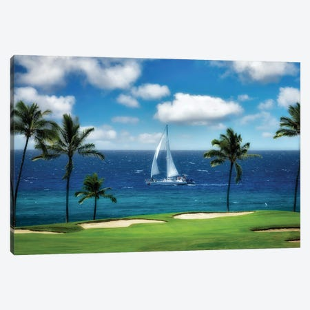 Tropical Sailing Canvas Print #DEN622} by Dennis Frates Canvas Art
