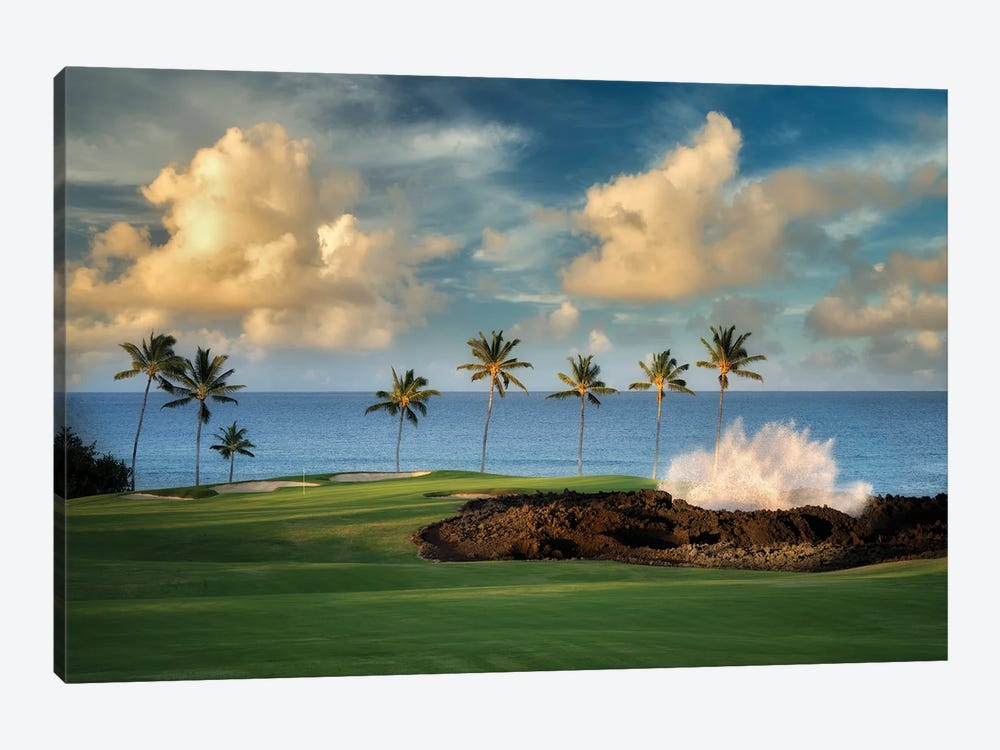 Golf Course And Wave by Dennis Frates 1-piece Art Print