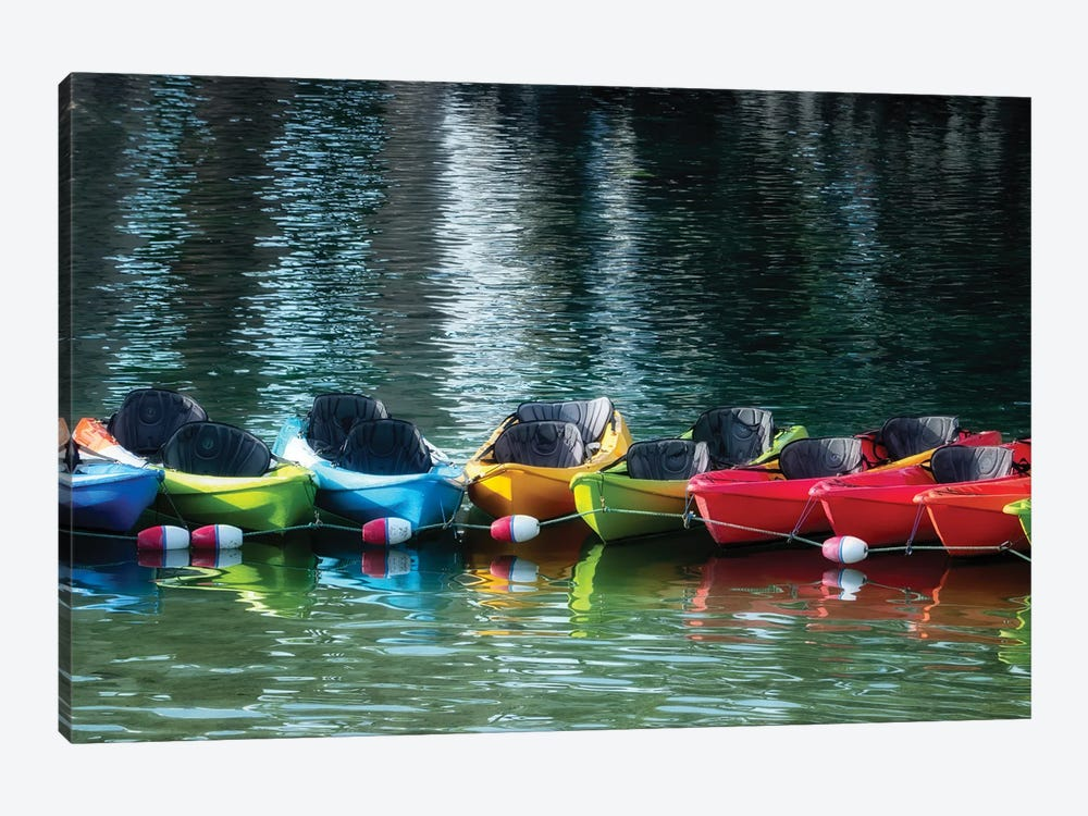 Canoe Lineup by Dennis Frates 1-piece Art Print