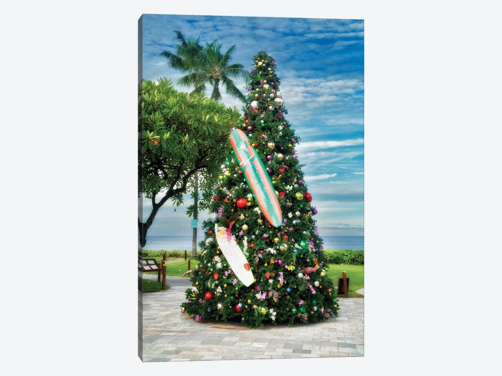 Tropical Christmas Tree by Dennis Frates 1-piece Art Print