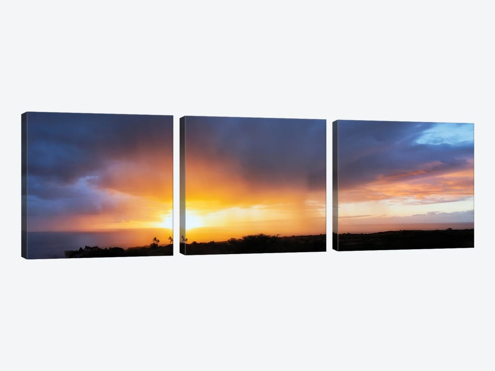 Seaside Sunset II by Dennis Frates 3-piece Canvas Print