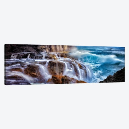 Wave Waterfall Canvas Print #DEN646} by Dennis Frates Canvas Art Print