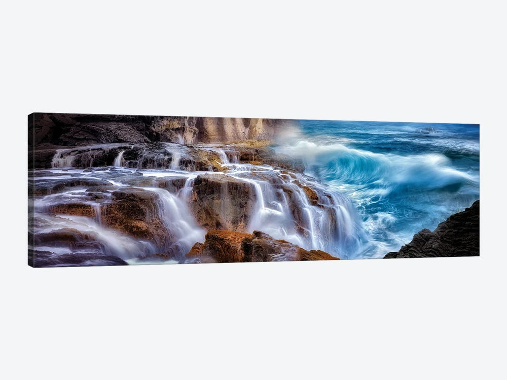 Wave Waterfall by Dennis Frates 1-piece Canvas Art
