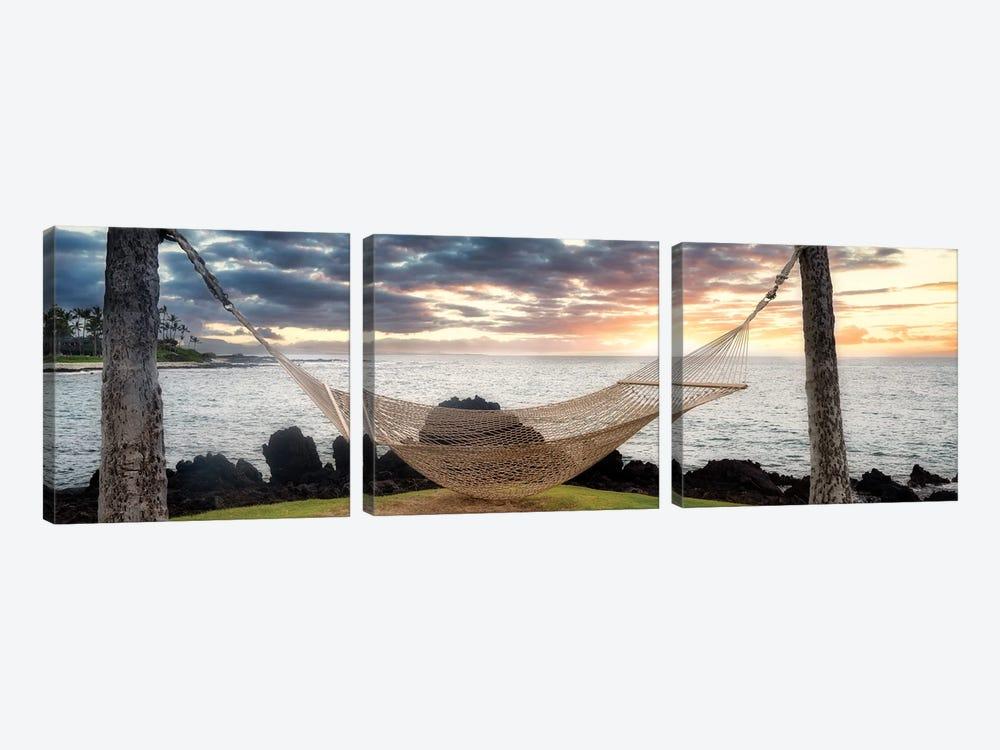 Tropical Hammock by Dennis Frates 3-piece Art Print