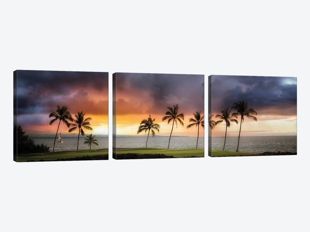 Hawaii Sunset II by Dennis Frates 3-piece Canvas Wall Art