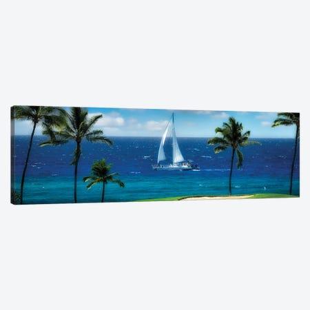 Tropical Sailing II Canvas Print #DEN656} by Dennis Frates Canvas Wall Art
