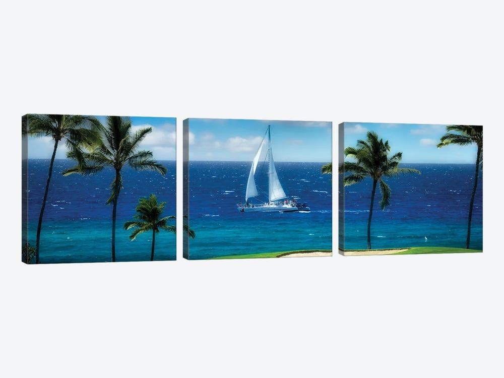 Tropical Sailing II by Dennis Frates 3-piece Canvas Art Print