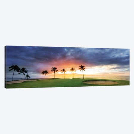 Tropical Golf Sunset Canvas Print #DEN661} by Dennis Frates Canvas Artwork