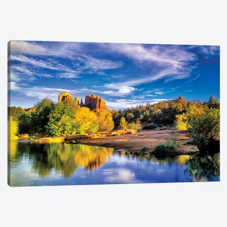 Cathedral Reflection 3-Piece Canvas #DEN66} by Dennis Frates Canvas Artwork