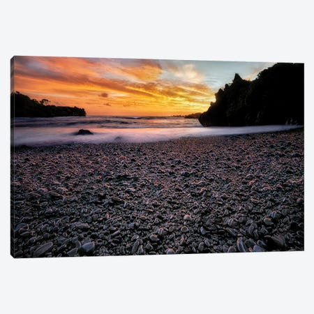 Black Rock Beach Canvas Print #DEN670} by Dennis Frates Canvas Art Print