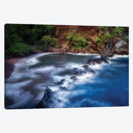 Red Sand Beach Canvas Print #DEN674} by Dennis Frates Canvas Artwork