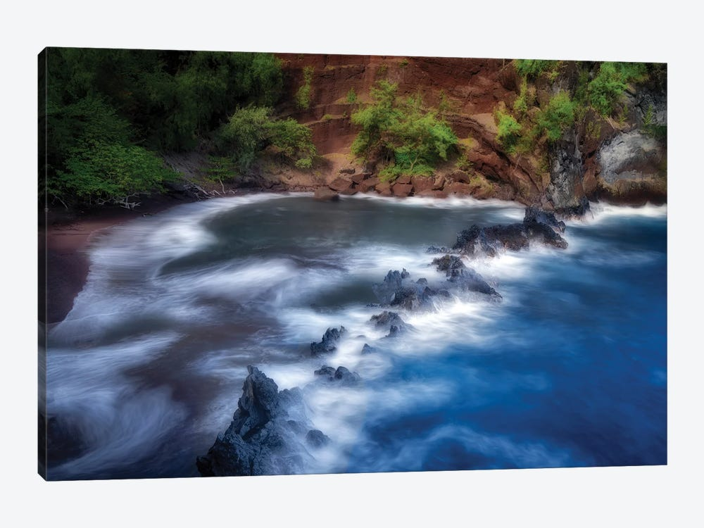 Red Sand Beach by Dennis Frates 1-piece Canvas Print