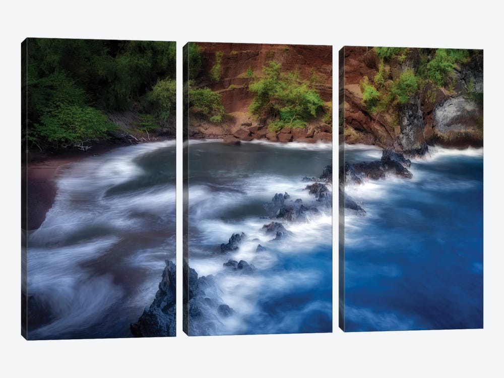 Red Sand Beach by Dennis Frates 3-piece Art Print