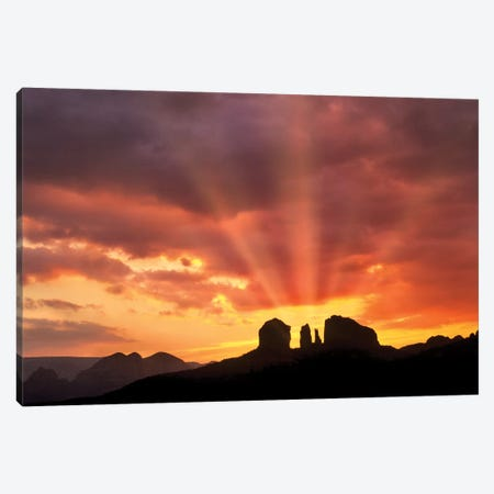 Cathedral Sunrise Canvas Print #DEN67} by Dennis Frates Canvas Artwork