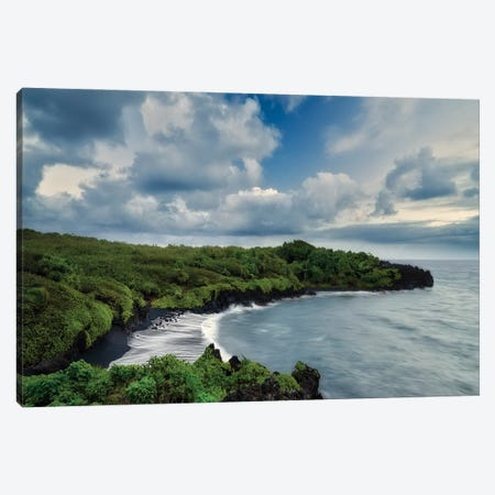 Black Sand Beach II Canvas Print #DEN681} by Dennis Frates Canvas Artwork
