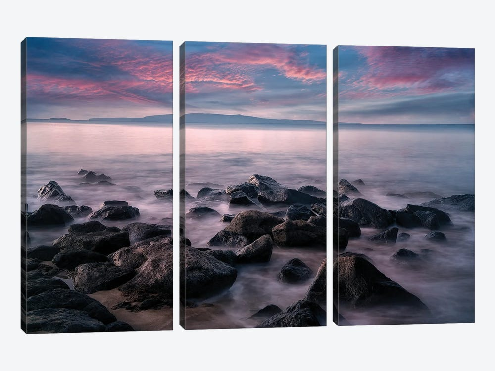 Maui Sunset IV by Dennis Frates 3-piece Canvas Art