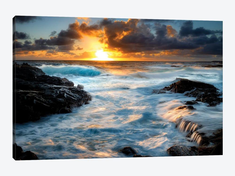 Painterly Tropical Sunrise I by Dennis Frates 1-piece Canvas Art Print