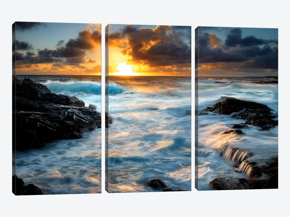 Painterly Tropical Sunrise I by Dennis Frates 3-piece Canvas Print