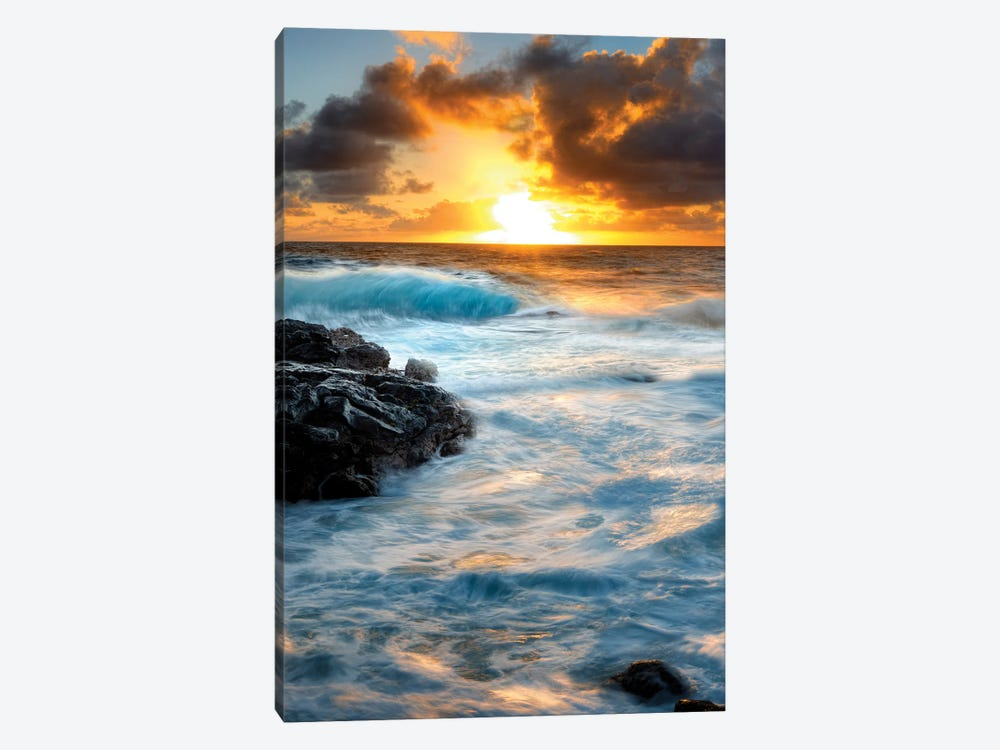 Painterly Tropical Sunrise II by Dennis Frates 1-piece Canvas Artwork