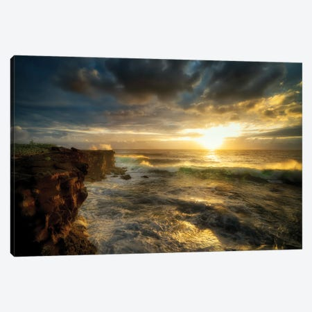 Hawaiian Sunrise Canvas Print #DEN700} by Dennis Frates Canvas Art Print