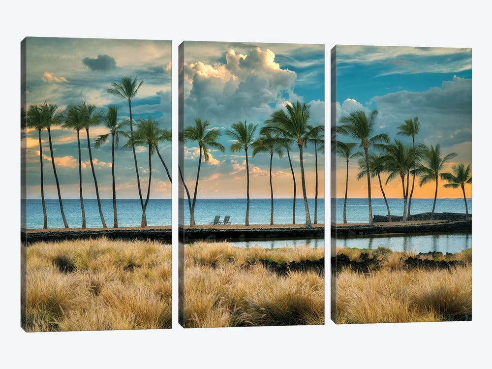 Aa Beach by Dennis Frates 3-piece Canvas Print