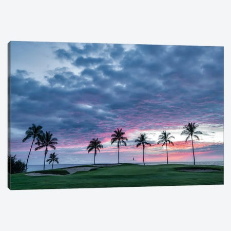 Golf Sunset V Canvas Print #DEN722} by Dennis Frates Art Print
