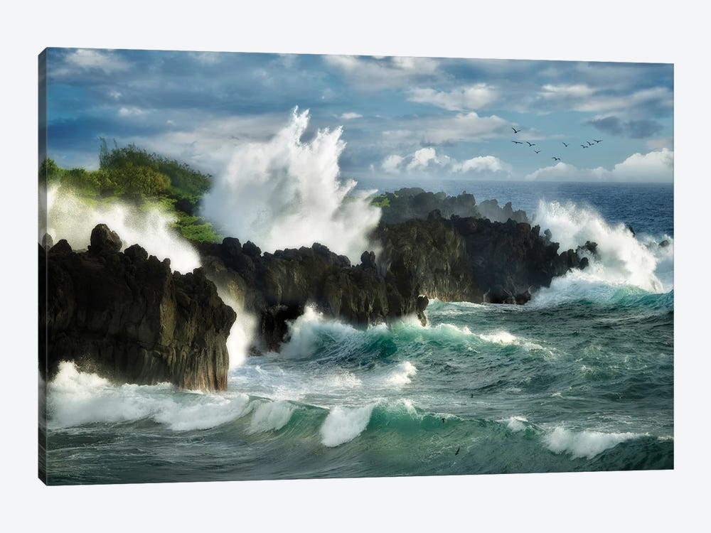 Storm Waves by Dennis Frates 1-piece Canvas Print