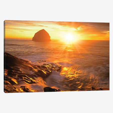 Coastal Sunset II Canvas Print #DEN73} by Dennis Frates Canvas Wall Art