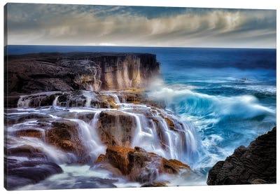 Ocean Wave Waterfall Canvas Art Print