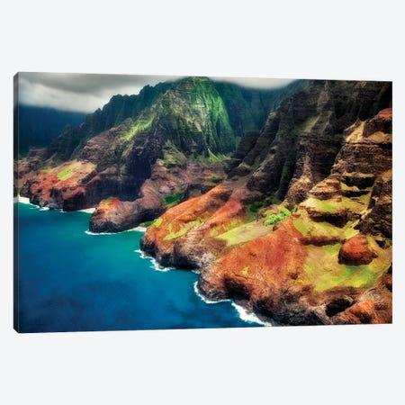 Colorful Coastline Canvas Print #DEN76} by Dennis Frates Canvas Print