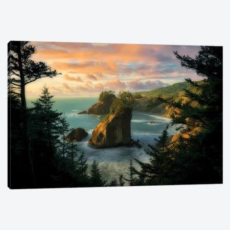 Crashing Tall Wave Canvas Print #DEN85} by Dennis Frates Canvas Art